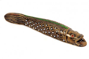 Very elaborate hand crafted fish from Thailand - 281